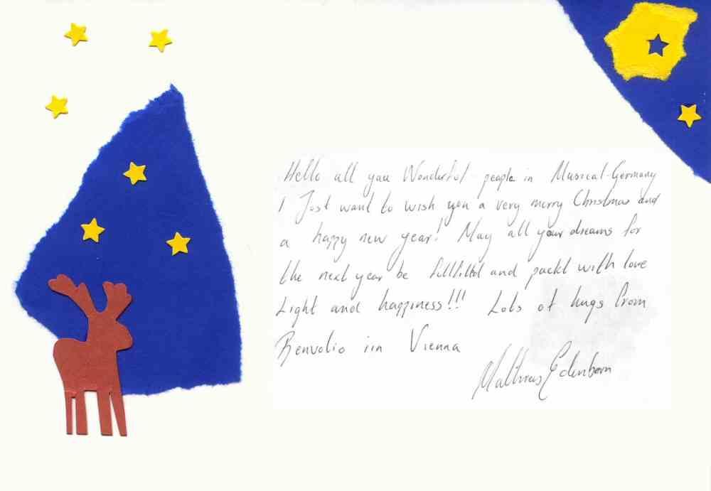 Mathias Edenborn's Weihnachtswünsche 2004 für die Fans