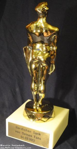 Oscar-Statue von hinten