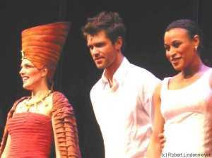 Schlussapplaus: Maricel (Amneris), Mathias Edenborn (Radames) und Oceana (Aida)
