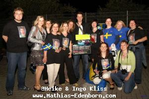 Mathias Edenborn mit seinen Fans