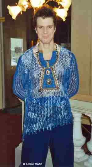 Presseprobe: Mathias Edenborn (Benvolio) im Foyer