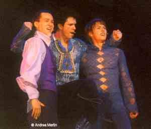 Presseprobe: Rasmus Borkowski (Mercutio), Mathias Edenborn (Benvolio) und Lukas Perman (Romeo)