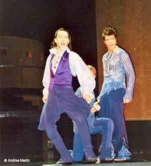 Presseprobe: Rasmus Borkowski (Mercutio), Lukas Perman (Romeo) und Mathias Edenborn (Benvolio)