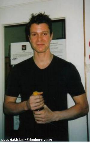 Mathias an der Bühnentür