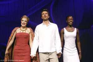 Schlussapplaus: Maricel (Amneris), Mathias Edenborn (Radames) und Florence Kasumba (Aida)