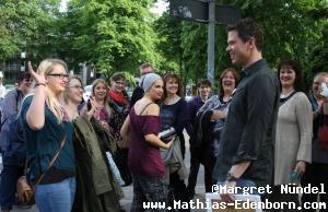Mathias mit seinen Fans