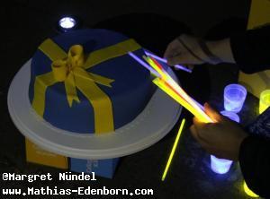 Torte in schwedischen Farben