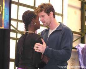 Mathias Edenborn(Radames) und Florence Kasumba(Aida) ganz romantisch