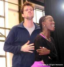 Mathias Edenborn(Radames) und Florence Kasumba(Aida) ganz dramatisch